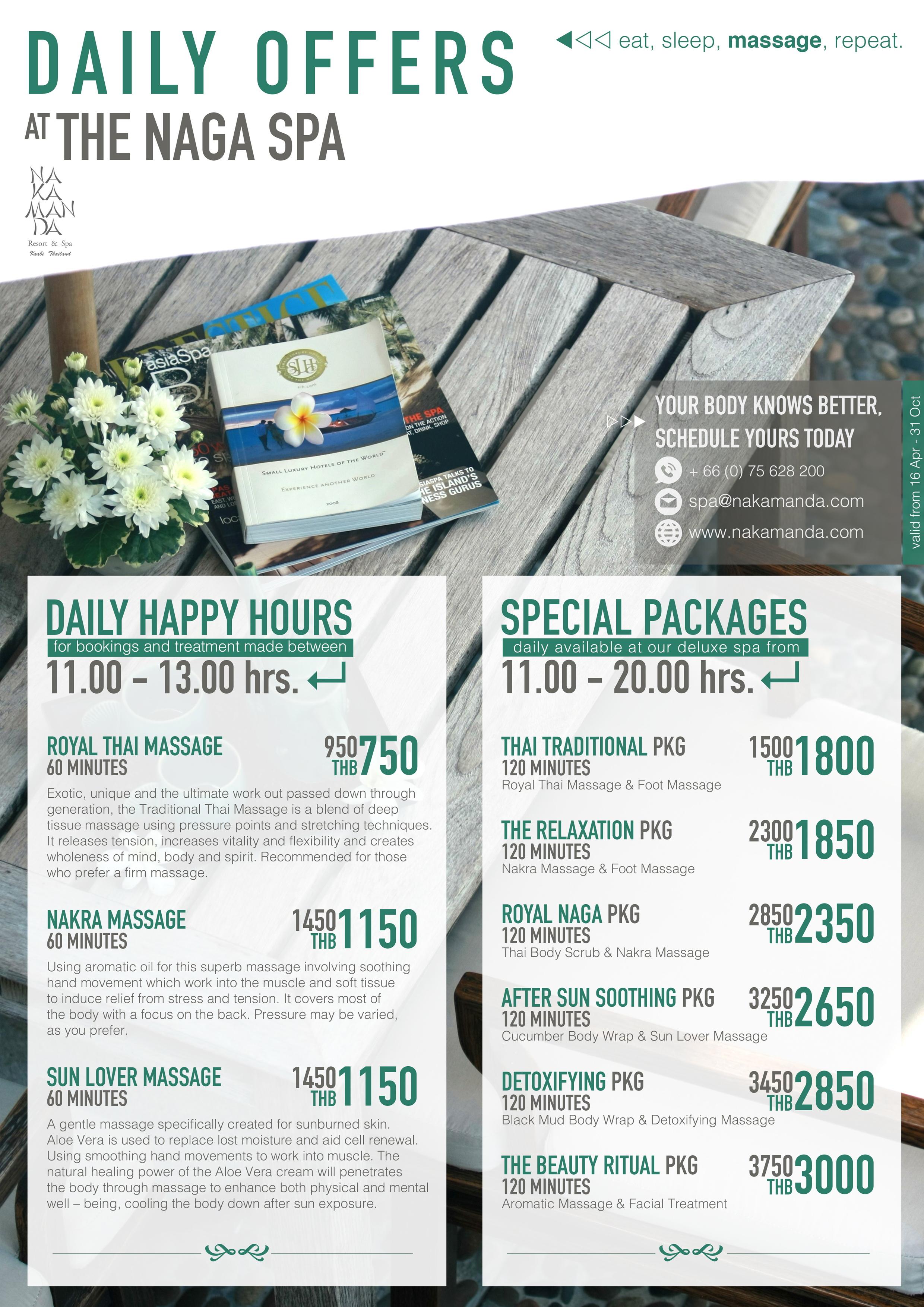 Rates & Packages - Nakamanda Resort & Spa